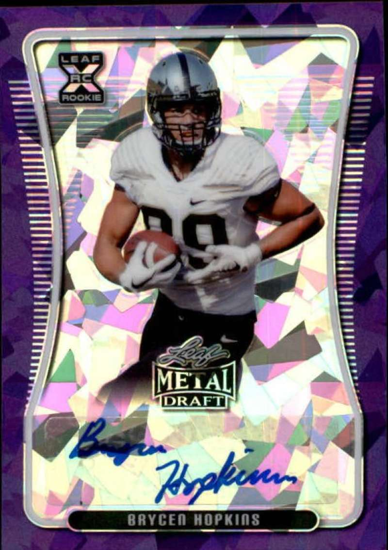 2020 Leaf Metal Draft Autographs Crystal Purple