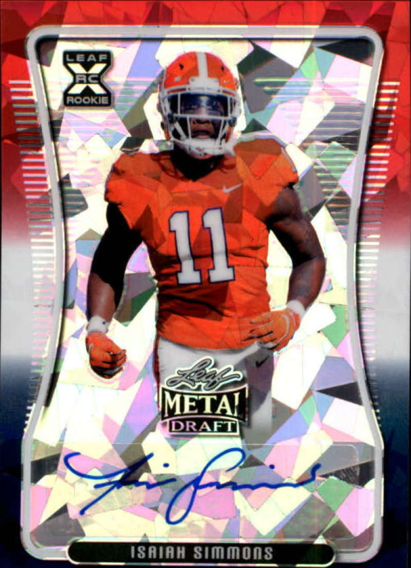 2020 Leaf Metal Draft Autographs Crystal RWB Exclusive
