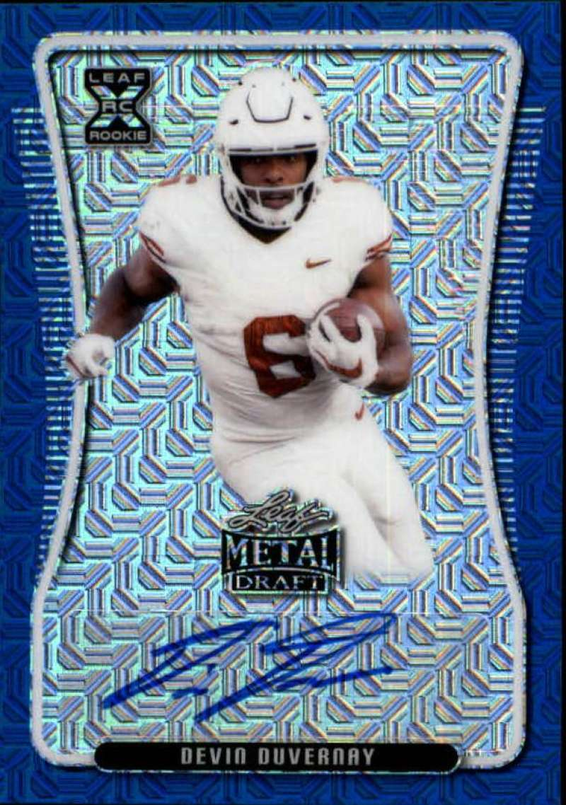 2020 Leaf Metal Draft Autographs Mojo Blue