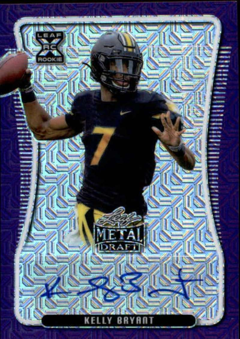 2020 Leaf Metal Draft Autographs Mojo Purple