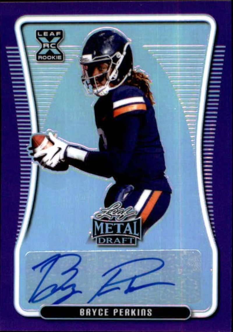 2020 Leaf Metal Draft Autographs Rainbow Purple