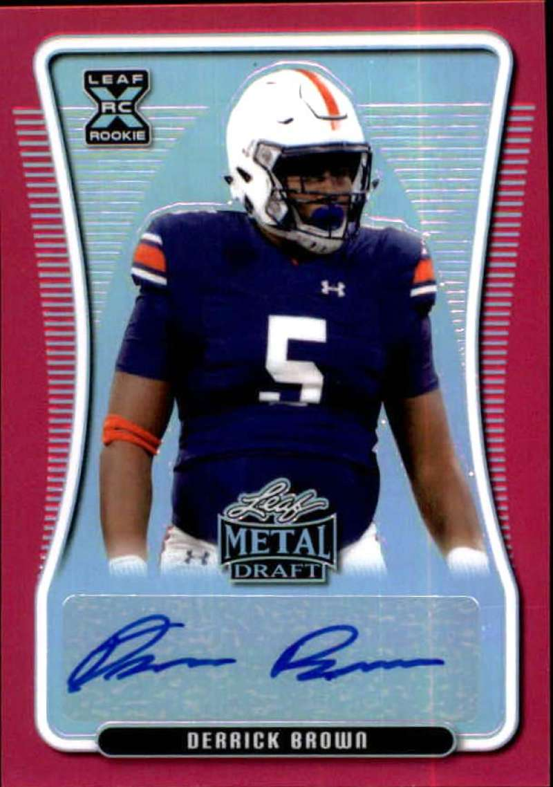 2020 Leaf Metal Draft Autographs Rainbow Pink