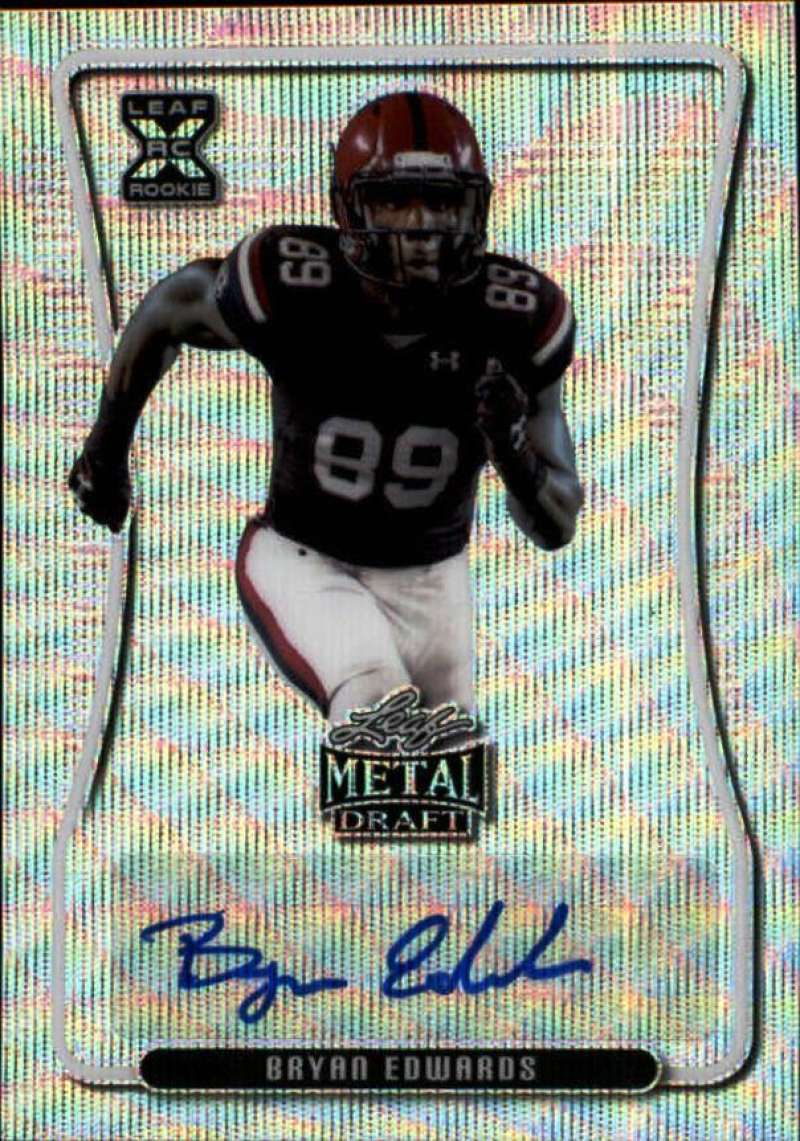 2020 Leaf Metal Draft Autographs Wave Silver