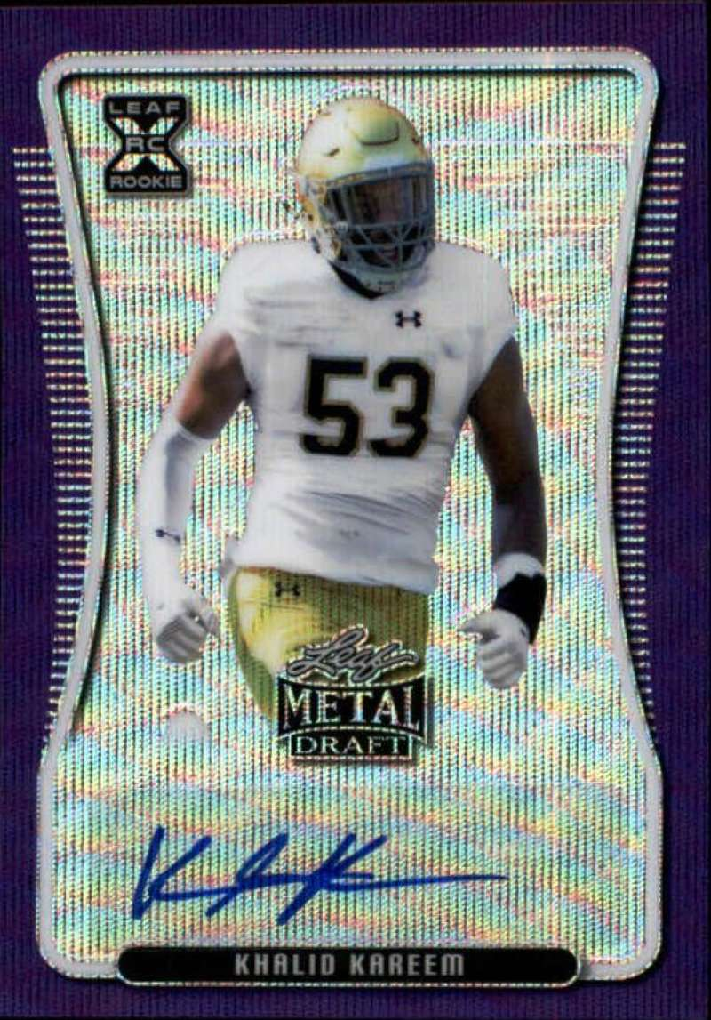 2020 Leaf Metal Draft Autographs Wave Purple