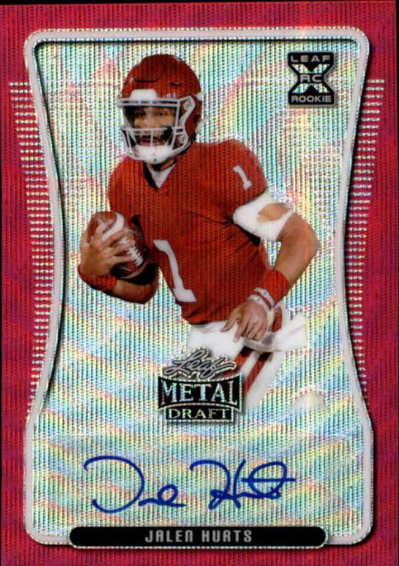 2020 Leaf Metal Draft Autographs Wave Pink