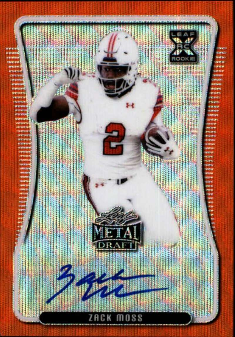 2020 Leaf Metal Draft Autographs Wave Orange