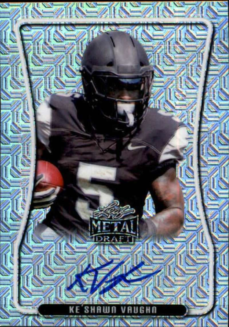 2020 Leaf Metal Draft Portrait Autographs Mojo Silver