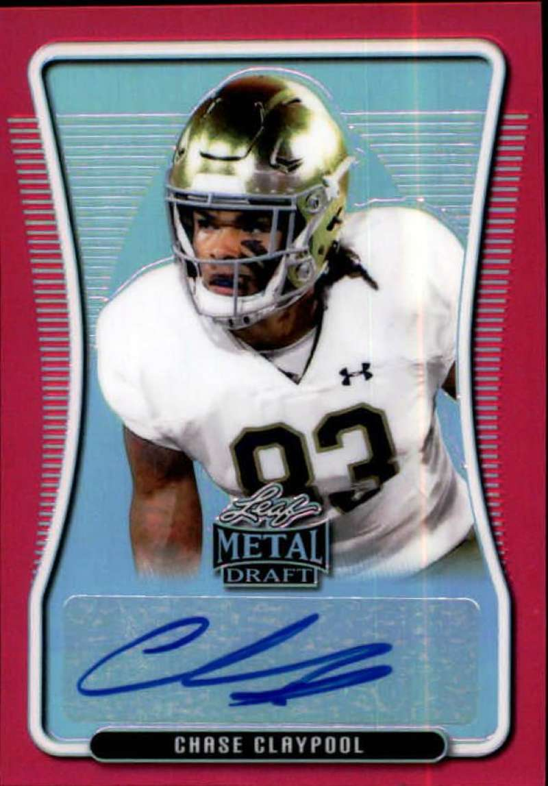 2020 Leaf Metal Draft Portrait Autographs Rainbow Pink