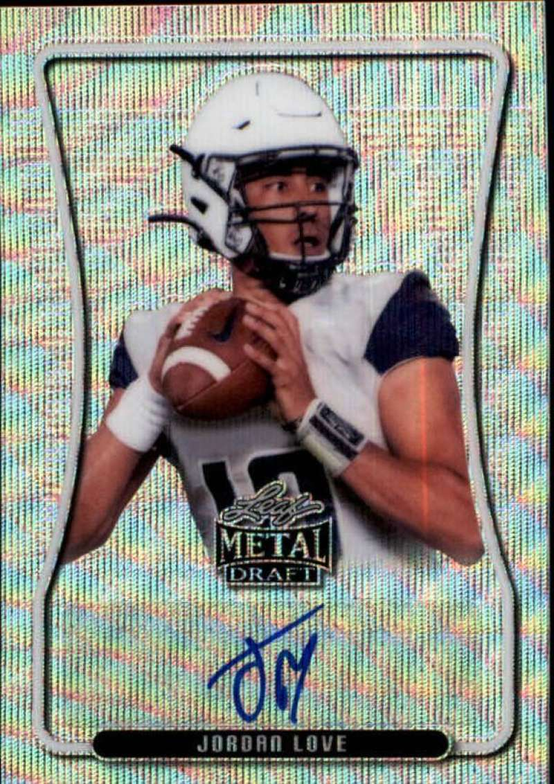 2020 Leaf Metal Draft Portrait Autographs Wave Silver