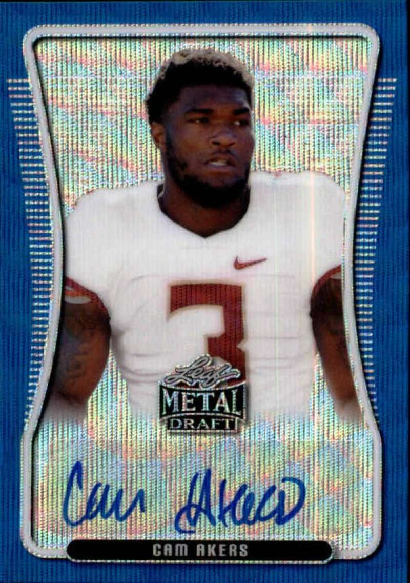 2020 Leaf Metal Draft Portrait Autographs Wave Blue