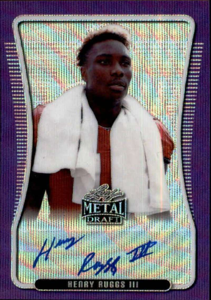 2020 Leaf Metal Draft Portrait Autographs Wave Purple