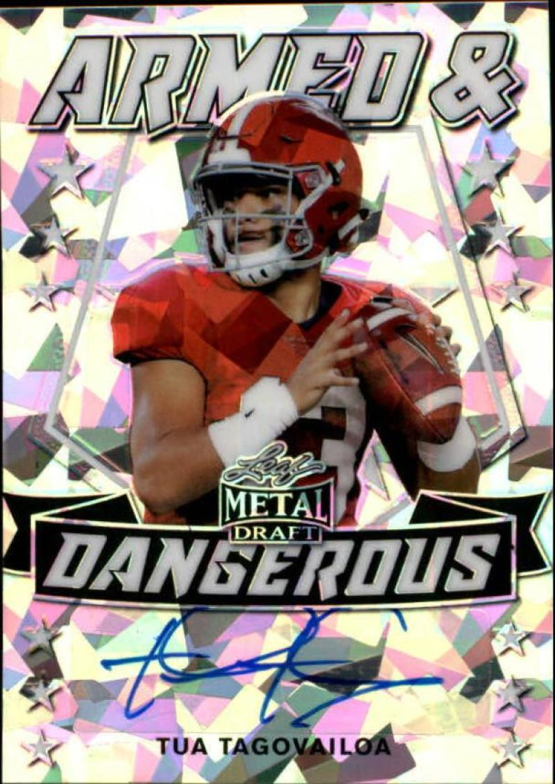 2020 Leaf Metal Draft Armed and Dangerous Autographs Crystal Silver