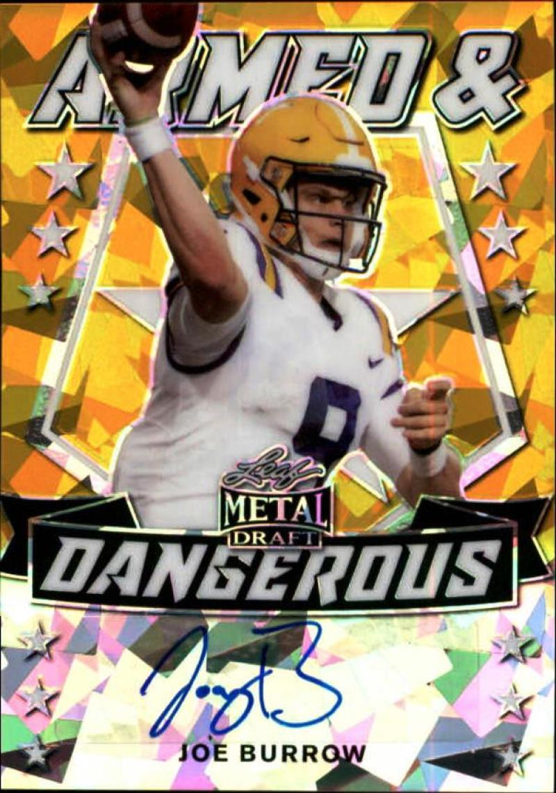 2020 Leaf Metal Draft Armed and Dangerous Autographs Crystal Gold