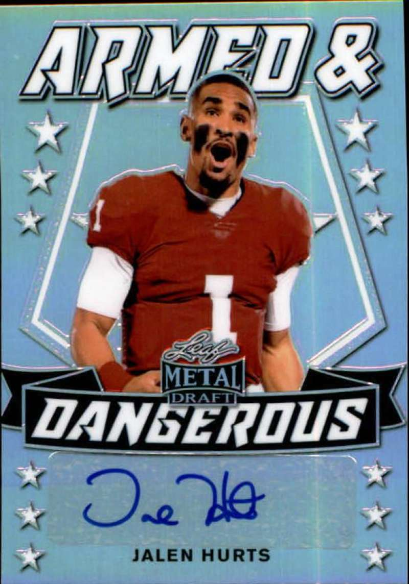 2020 Leaf Metal Draft Armed and Dangerous Autographs Rainbow Silver