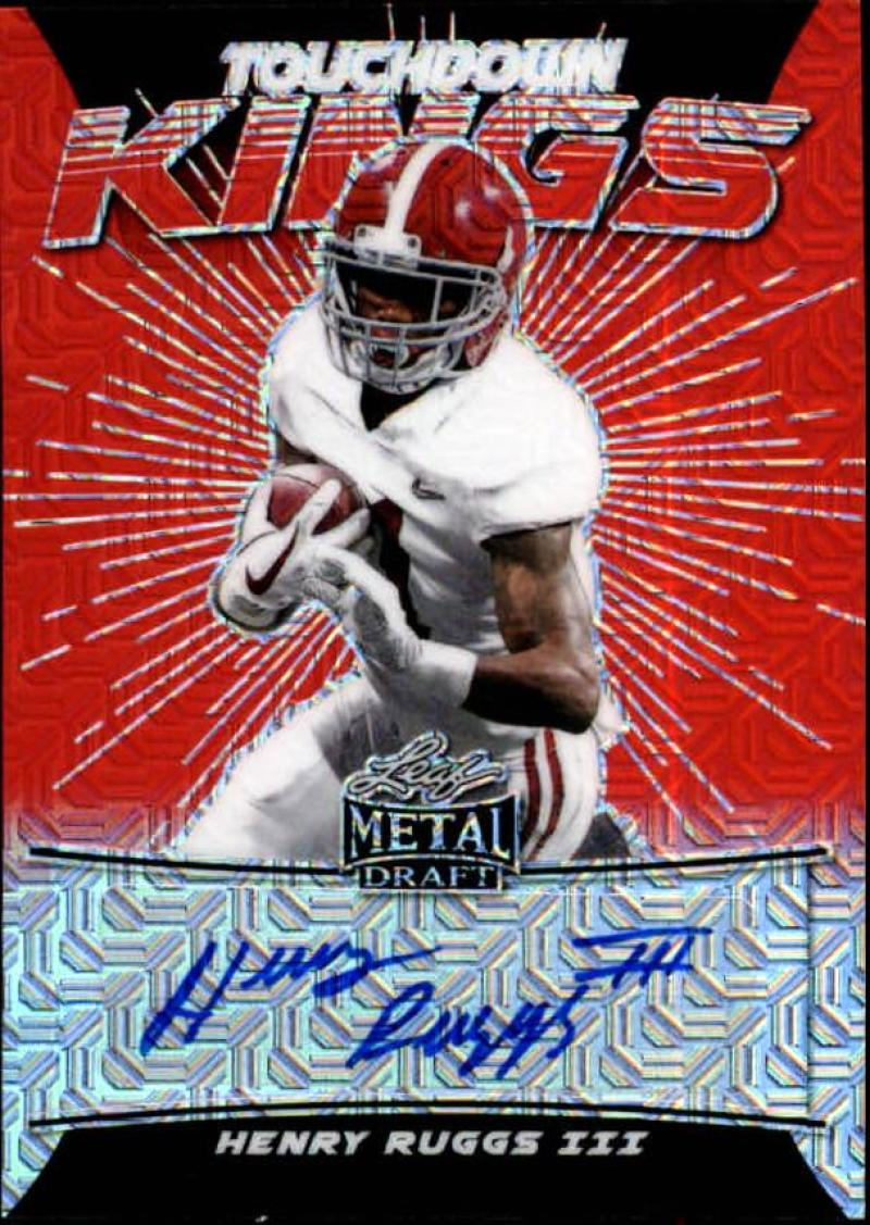 2020 Leaf Metal Draft Touchdown Kings Autographs Mojo Orange