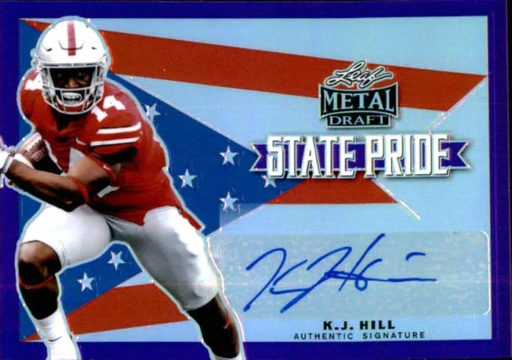 2020 Leaf Metal Draft Flashback State Pride Autographs Purple