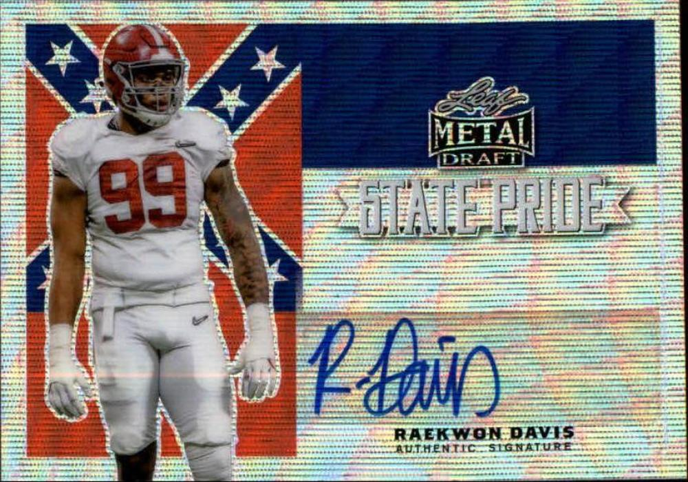 2020 Leaf Metal Draft Flashback State Pride Autographs Wave Silver