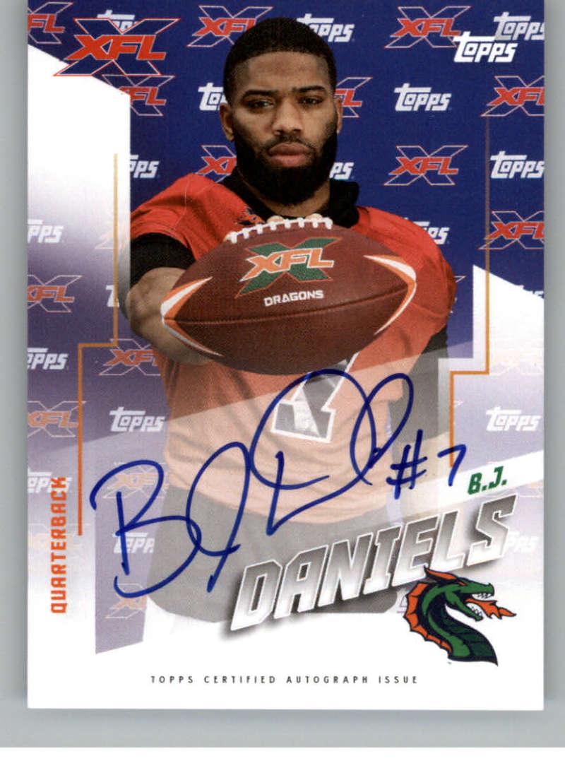 2020 Topps XFL Autographs