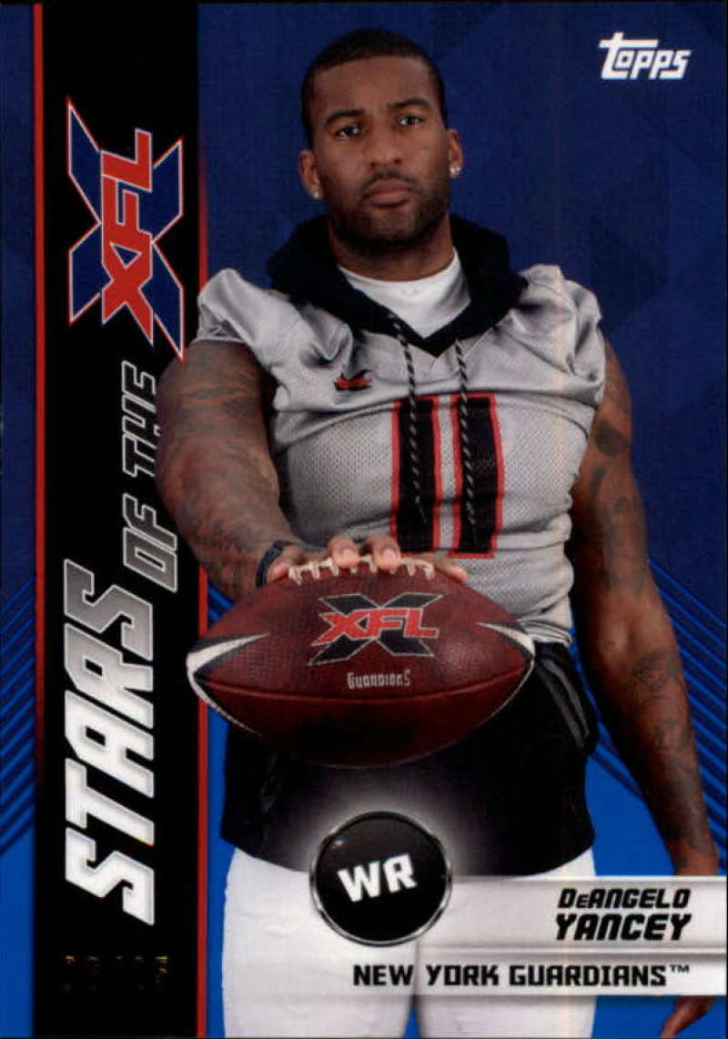 2020 Topps XFL Stars of the NFL Blue