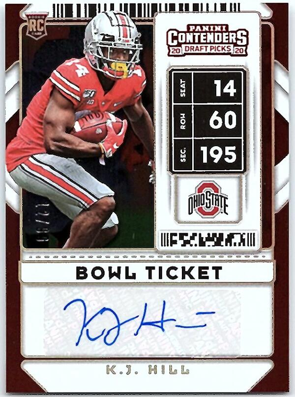 2020 Panini Contenders Draft College Bowl Ticket
