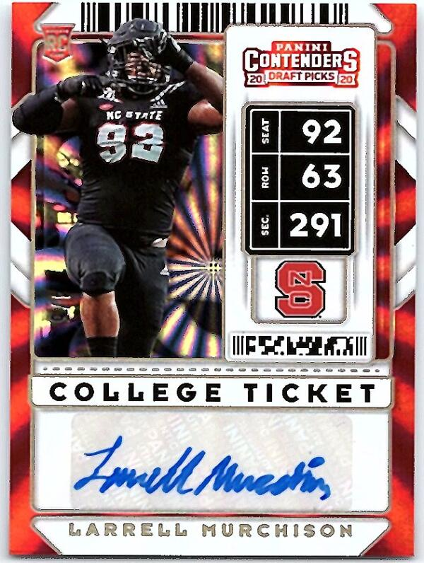 2020 Panini Contenders Draft College Fame Ticket