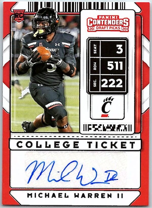 2020 Panini Contenders Draft College Ticket