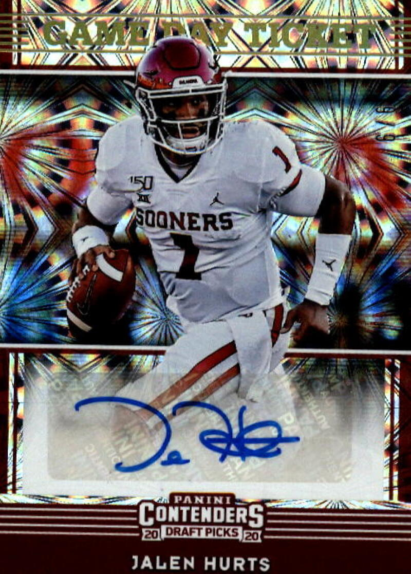2020 Panini Contenders Draft Game Day Ticket Touchdown Ticket Signatures