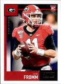2020 Score Football #356 Jake Fromm RC Rookie Card Georgia Bulldogs