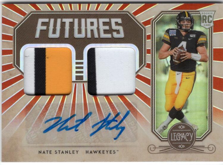 2020 Panini Legacy Futures Dual Patch Autographs Ruby