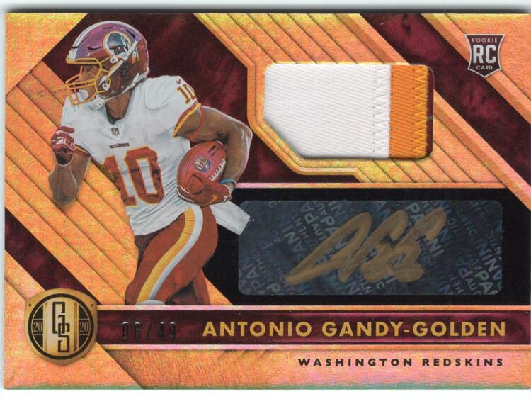 2020 Panini Gold Standard Rookie Jersey Autographs Prime