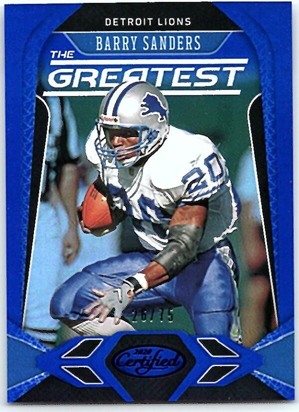2020 Panini Certified The Greatest Mirror Blue