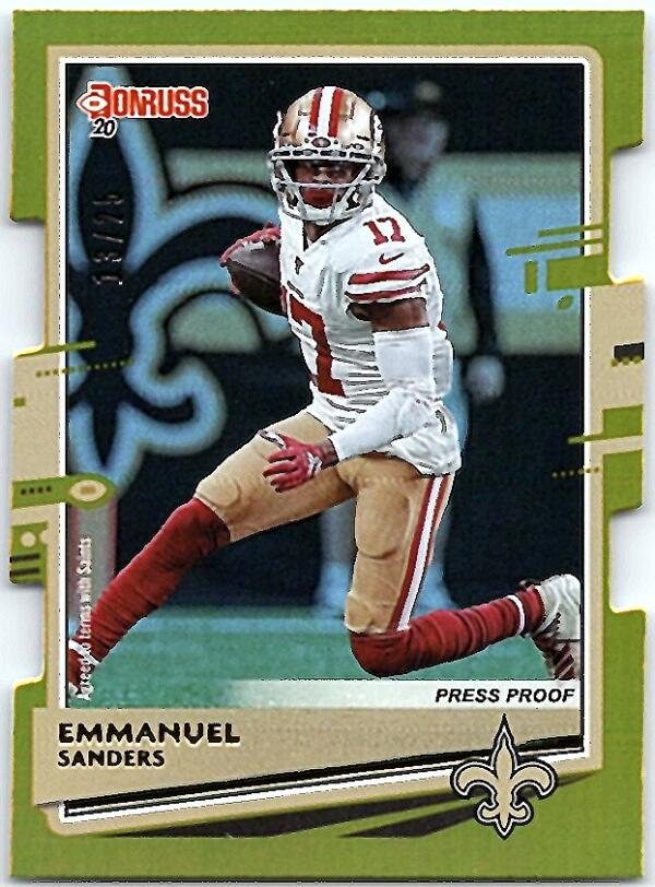 2020 Donruss  Press Proof Gold Die-Cut