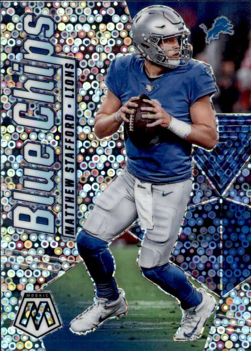 2020 Panini Mosaic Blue Chips No Huddle Silver
