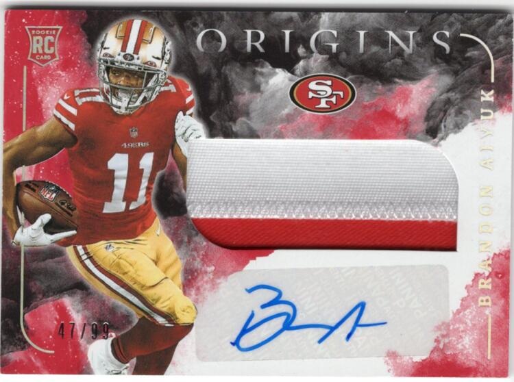 2020 Panini Origins Rookie Jumbo Patch Autographs Red