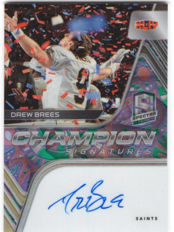 2020 Panini Spectra Champion Signatures Gold