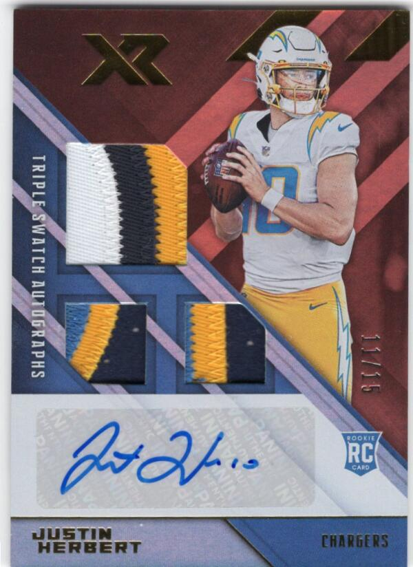2020 Panini XR Rookie Swatch Autographs Orange