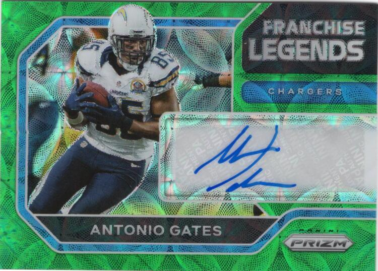 2020 Panini Prizm Franchise Legends Signatures Prizms Green Scope
