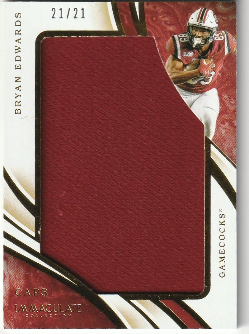 2020 Panini Immaculate Collegiate Football RPS Rookie Player Caps