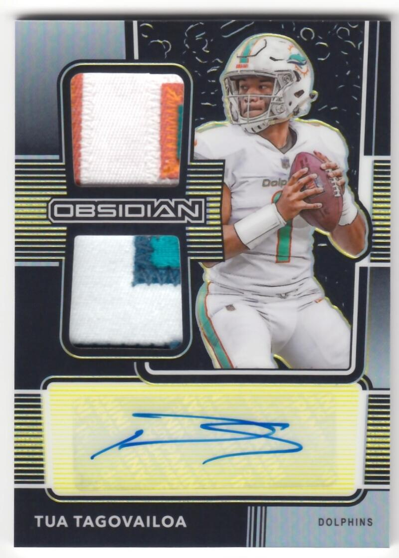 2020 Panini Obsidian Rookie Jersey Ink Electric Etch Yellow