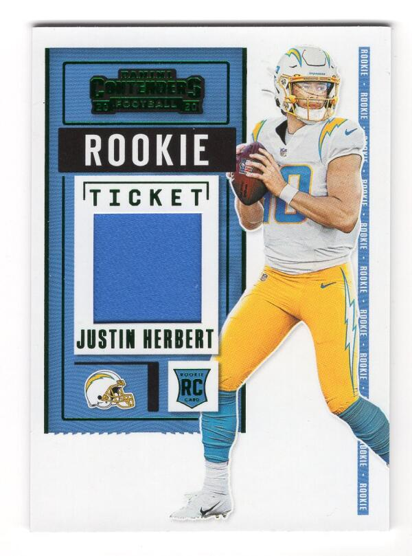 2020 Panini Contenders Rookie Ticket Swatches Variation