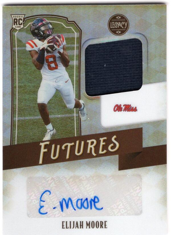 2021 Panini Legacy Futures Patch Autographs Silver