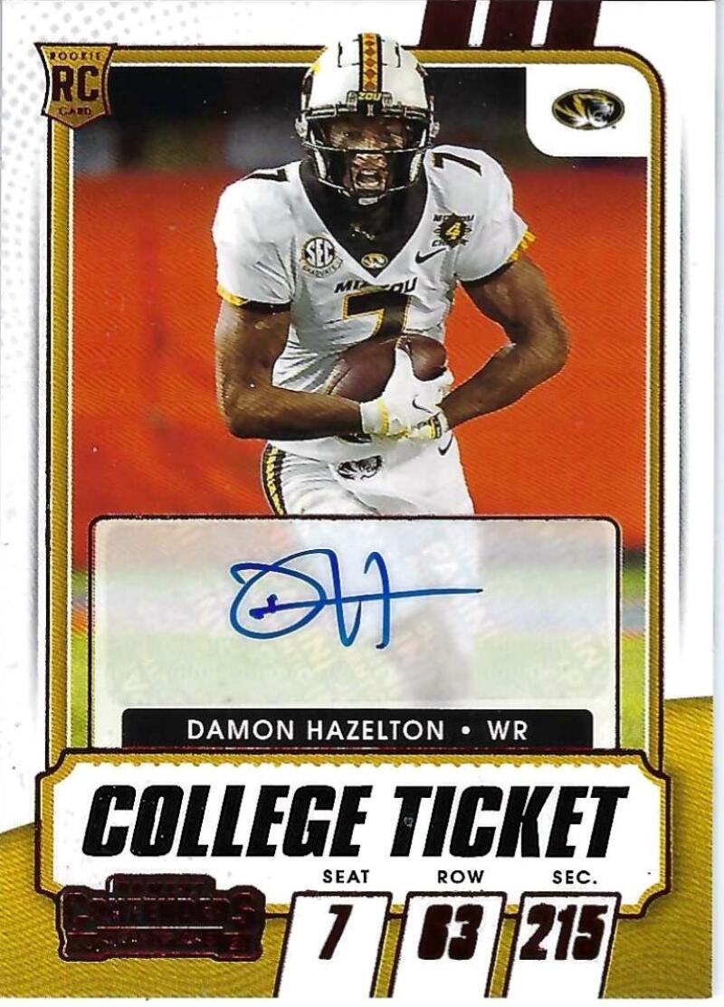 2021 Panini Contenders Draft College Ticket Red