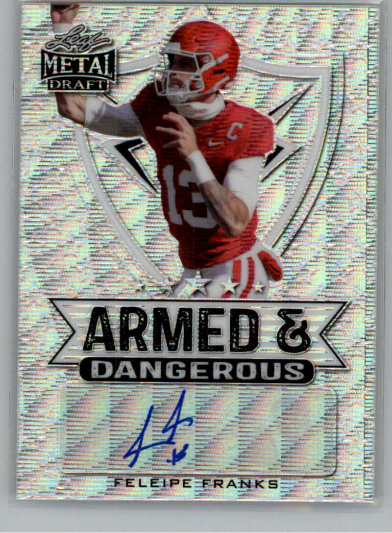 2021 Leaf Metal Draft Armed and Dangerous Wave Autographs Silver