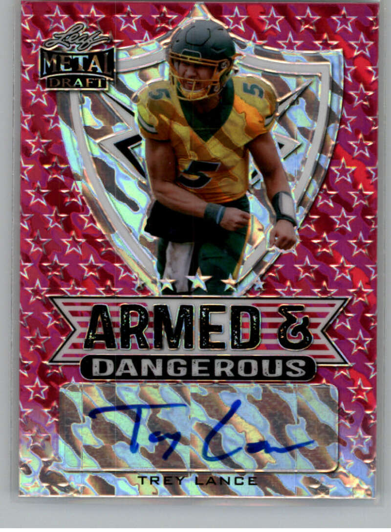 2021 Leaf Metal Draft Armed and Dangerous Marbles Autographs Pink