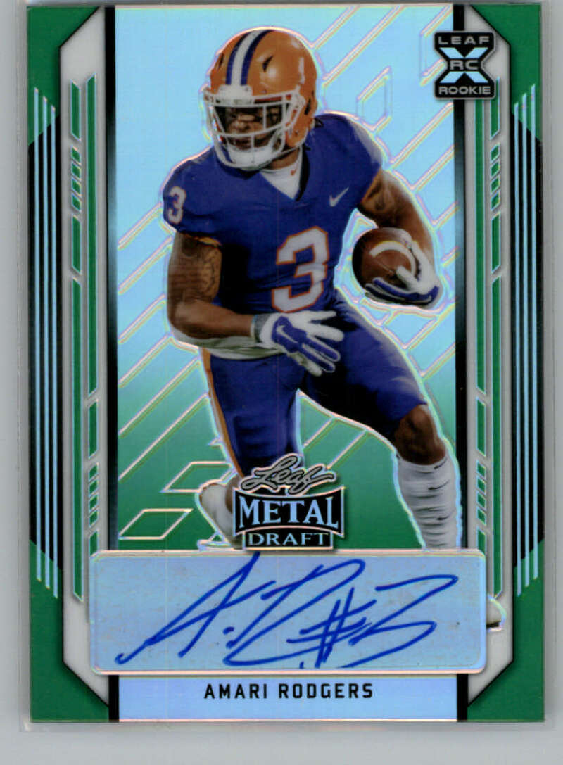 2021 Leaf Metal Draft Action XRC Marbles Autographs Green