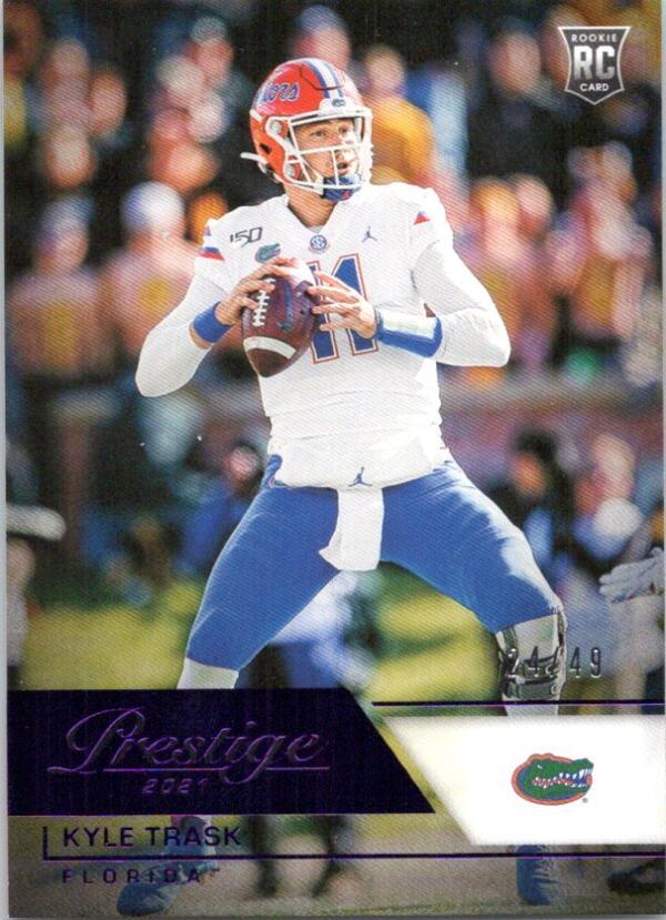2021 Panini Chronicles Draft Picks Prestige Purple