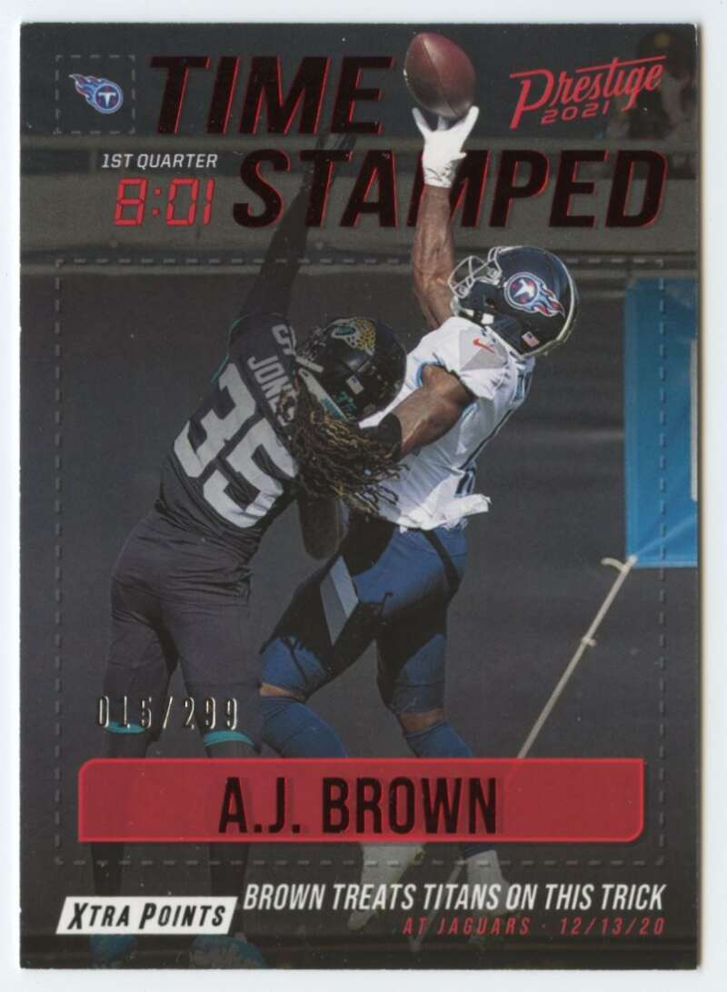 2021 Panini Prestige Time Stamped Xtra Points Red