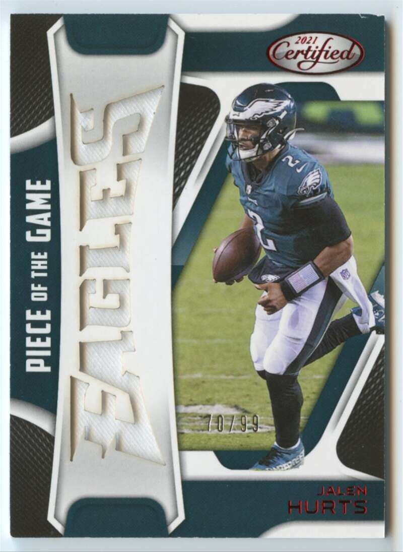 2021 Panini Certified Piece of the Game Red