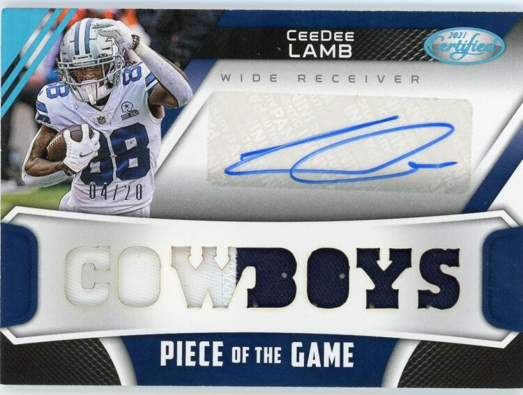 2021 Panini Certified Piece of the Game Signatures Teal
