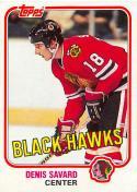 1981-82 Topps #W75 Denis Savard EX+ RC Rookie
